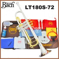 bach trumpet mouthpieces - New Bach Brass Trumpet LT180S Bb Silver Plated Gold Key Trompeta Profissional Instrumentos Case Mouthpiece