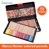 Wholesale Marco Wooden Colored Pencils Renoir Professional Artist Drawing Set Sketching