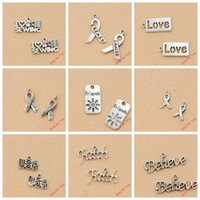 believe crafts - Mixed Tibetan Silver Plated Love Friends Hope Faith Believe Peace Charms Pendants Jewelry Making Diy Charm Handmade Crafts c062 jewelry maki