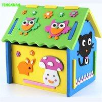 Wholesale 2016 New Cute DIY D Mushroom Number House Puzzle Model Handicrafts EVA Foam Craft Kindergarten Develpment Toys Kids years