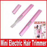 For Apple iPhone beard hair color - Pink Color Practical Electric Face Eyebrow Scissors Hair Trimmer Mini Portable Women Body Shaver Remover Blade Razor Epilator