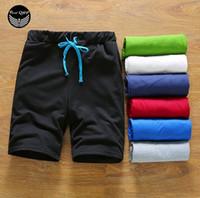 Wholesale Shorts Summer Mens Solid Bermuda Sport Basketball Short Gym Men Brand Homme Running Surf Lacing Shorts XL QSP