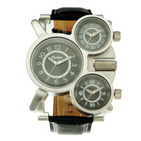 acrylic watch case - Branded watches oulm multiple time zone Display PG21C Japan Quartz movement Mens Military Army Sport WristWatch stainless steel case