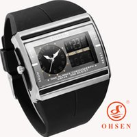 Cheap 2016 Men Digital Electronic LED Watch OHSEN Brand Sports Watches Relogio Masculino Fashion Casual Dress Analog Mens Wristwatches
