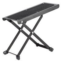 adjustable foot rest - Durable Anti Slip Guitar Foot Rest Stool Foldable Metal Guitar Pedal Adjustable Height Levels Black High Quality Guitar Parts
