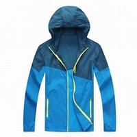 Wholesale Summer Men Brand Clothing Quick Dry Waterproof Skin Jacket Anti UV Outdoor Sport Hiking Fishing Light Rain Coat UA131