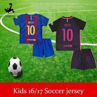 Wholesale kids jerseys children Soccer jersey Best Quality BARCELONAIZERS shirts Soccer MESSI NEYMAR JR SUAREZ PIQUE HOME Custom shirt