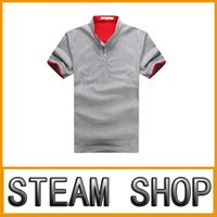 Wholesale The new big summer hot style Multicolor v neck t shirts with short sleeves Men s casual polo run hot style