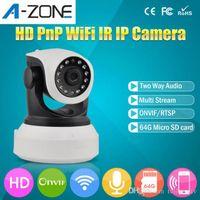 Wholesale 720P HD IP CCTV Wireless Camera IR Cut Night Vision P2P Baby Monitor Audio Record WIFI CCTV Onvif Indoor Surveillance Camera Authentic