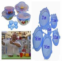 Wholesale Universal Silicone Suction Lid bowl pan cooking pot lid silicon stretch lids silicone cover kitchen pan spill lid stopper cover