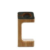 al por mayor encargado de la manzana-El sostenedor de carga de madera del sostenedor del soporte del nuevo diseño de la manera para el reloj de Apple La cuerda de carga del cable del soporte de la base del muelle del cargamento