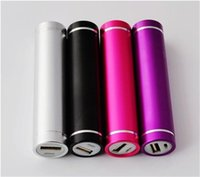 aluminum rocks - Charging Treasure Mini Small Portable Aluminum Alloy With Torch Light Leds Ultralight Cylindrical Mobile Power Supply Fast Charging