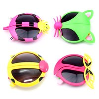 Wholesale 4 Styles Children Cute Beetles Foxes Spiders Peach Cartoon Sunglasses Baby Collapsible Beetles Sun Glasses Cartoon Sunglasses for Kids