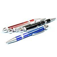 aluminium ball pen - Ball point pen style Metal Smoking Pipe Aluminium Alloy Tobacco pipe colors Length CM SS9012