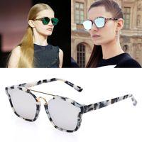 abstract green - Fashion Abstract Women Sunglasses Brand Designer With Original Box Acetate Frame Mirror Lens Oculos De Sol Feminino