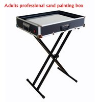 animation light table - Adults Professional Sand Painting Table Perform Prop Equip Sand Animation Box New Fancy Crazy Sand Art LED Warm White Light