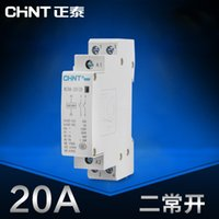 Wholesale CHINT Mini single phase Household Modular AC contactor V Din Rail Type NCH8 normally open A Ann P