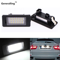 Wholesale Pure White Pair SMD Error Free LED License plate lamp Number plate Light for bmw E70 X5 E71 E72 X6