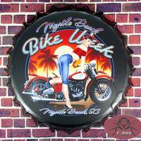 beer week - quot Bike Week Motor Lady quot Beer Bottle Cap Metal signs Bar Posters Garage Pub Bar Home Club Wall Decor cm RM