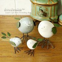 Wholesale Spring bird modern minimalist style creative ornaments exquisite workmanship ceramic iron bird ornament exquisite gift ornaments
