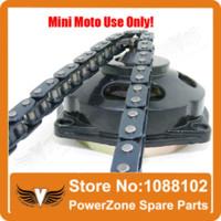 Wholesale Mini Moto cc cc Drive System links loops Chain with Gear Box And Rear Sprocket Fit Mini Moto Pocket Bike