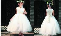 achat en gros de dres de mariage de haute qualité-2016 mariage de demoiselle d'honneur de haute qualité sans manches enfants robe de soirée élégante robe de soirée robe fille belle belle gaze belle partie dres