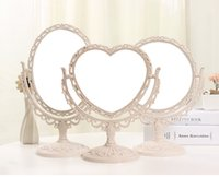 Wholesale Desktop Mirror European Mirror Double Face Mirror Simple Portable Princess Mirror