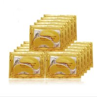 best brand sheets - Best price Pack Brand New Crystal Collagen Gold Powder Eye Mask Crystal Eye Mask Anti Wrinkle Eyes masks stick to dark circles Free DHL