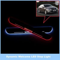 Wholesale For Ford Mondeo V Dynamic LED Streamer Footboard Lights Door Lamp Welcome Lights Threshold of Article Dynamic Light