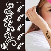 Wholesale Disposable Tattoo Stencil Templates For Painting Tatoo Stencils Vintage Stretch Tattoos Henna arm Necklace body paint