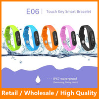 Cheap New E06 Smartband Smart Bracelet Wristband Fitness Tracker Bluetooth 4.0 Fitbit Flex Watch for iOS and Andriod Smartphone