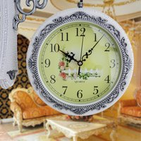 Wholesale Brand Hippih Large fashion double sided wall clock modern two sides quartz watche and clock silent duvar saati