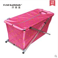 Wholesale Size117 cm Simple Folding Bathtub Inflatable Tub Handmade Bath Barrel Adult Thicker Bath Bucket