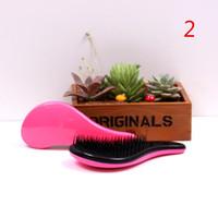 Wholesale Hair Wig Handle Tangle Comb Cute Professional Extension Hair Brush Portable Anti static Loop Brush