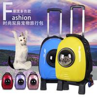 Wholesale Pet Space Package Dog Front Chest Backpack Pet Bag Dog Cat Carrier Five Holes Backpack Dog Outdoor Carrier Tote Bag Sling Holder Mesh