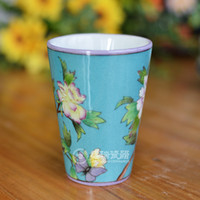 bathroom tumblers - Fancy Chinese Ceramic Cup Without Handle Hand Painted Bathroom Tumbler Cups for Home Decoration