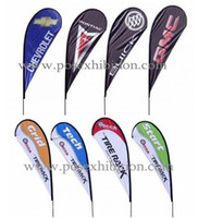 beach flag poles - 110x290cm Outdoor Stand Beach Flags Banners Single Side Teardrop Flags Screw Spike Feet Including Pole Outdoor Flags POS
