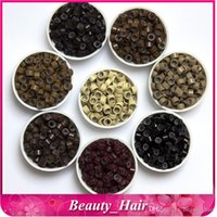 Wholesale 100000pcs mm With Silicone Micro color Aluminium Rings Beads For Hair Extentions