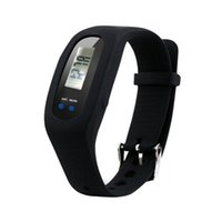 Pedometers 45mm Multifunctional Digital LED Pedometer Run Step Walking Distance Calorie Counter Watch Fashion Design Bracelet Colorful Silicone Pedometer