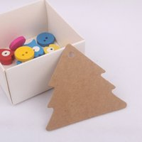 Wholesale Brown Blank Tree Shape Garment Gift Price Labels DIY Material Word Cards with Brown Paper Cords