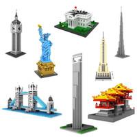 architecture construction - Loz Building Construction Nano Micro Building Block Mini Toy World Architecture Plastic Nanoblock Compatible Kids Gift