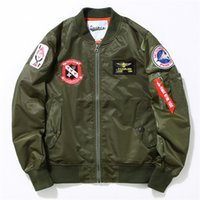 airborne badge - Mens MA1 Army Air Force Bomber Jackets Embroidery Pilot Badges Airborne Flight Kanye West Hip Hop Male Windbreaker Baseball Tactical Coats