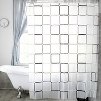 Wholesale 2016 Newest Arrival Bathroom Curtain Fabric Shower Curtains Waterproof Plaid Bath Accessories