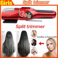 Wholesale New Rechargerable Hair Trimmer Cordless Automatically Hair Haircuts Hair Artifact Split Hair Trimmer Haircuts Fast shipping