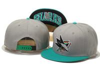 Wholesale 2016 New Arrived NHL San Jose Sharks gorras planas Hat Adjustable Baseball bones aba reta Snapback Hockey Cap Adjustable Hiphop chapeu