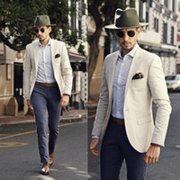 Wholesale Custom made Cool Groom Tuxedos Two Pieces Slim Fit Formal Men Suit High Quality Men Wedding Suits