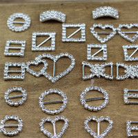 asian party supplies - Rhinestone Crystal Heart Digital Round Buckles Brooches Invitation Ribbon Chair Covers Slider Sashes Bows Buckles Wedding Supplies Jewelry