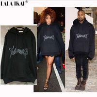 bape shop - Vetemen Oversized Hooded Hoodies Women Rihanna Kanyus Streetwear Brand Clothing Hoodie Men Plus Size Sweatshirts free shopping