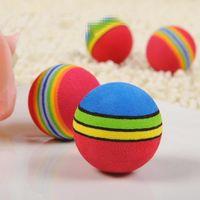 achat en gros de boule colorée douce-Hot Sale 1 Pieces Colorful Kitten Pet Cat doux Foam arc Jouer Balls Activité Jouets drôle