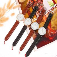 analog wedding - Luxury Brand Watch Fashion Quartz Wristwatch Leather Strap Black Brown Color DW Watches For Christmas Wedding gift